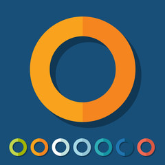 Flat design: circle