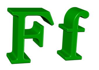 yeşil renkli F tasarımı