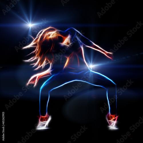 Obraz na Szkle Female hip hop dancer