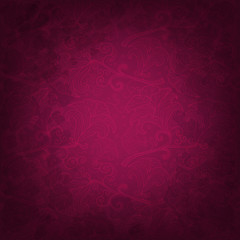 Dark pink background with fancy flowers