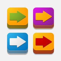 square button: arrow