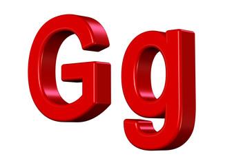 kırmızı renkli G harfi