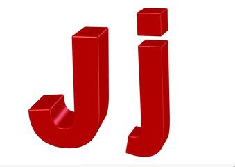 kırmızı renkli J harfi