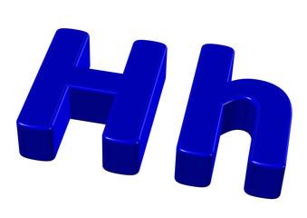 mavi renkli H harfi