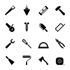 Silhouette Construction and Building Tools icons