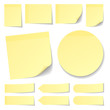 Yellow Stick Notes Collection Round