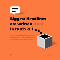 headlines flying out from the box - presentation template