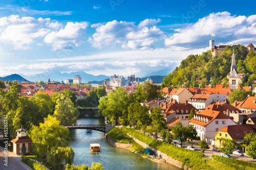 Panorama of Ljubljana, Slovenia, Europe. - 65266747