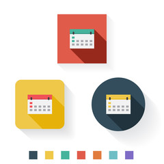Calender Flat Icon Design Kit Set Collection