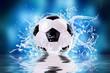 canvas print picture - soccer splash