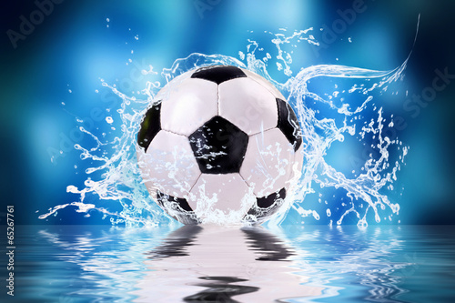 canvas print picture soccer splash