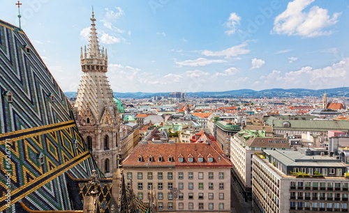 View of Vienna from Saint Stephane's cathedral, Austria