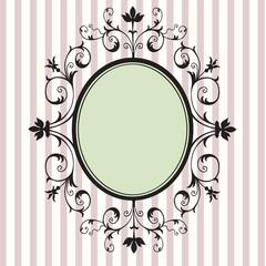 Black floral vintage frame