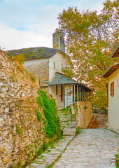 Agios Lavrendios village on pilion mountain in central Greece