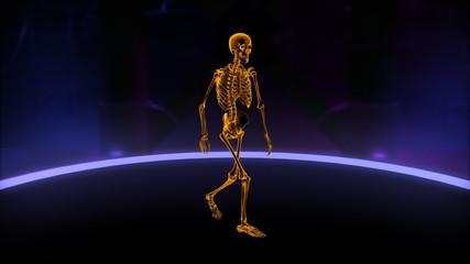 Xray walking skeleton Slow Motion Loop
