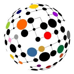 Netzwerk auf einer Kugel
