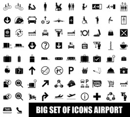Set of icons airport