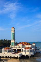 Floating Mosque of Tanjung Bungah, Penang island, Malaysia