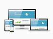 Flat modern website analytics search engine optimization vector