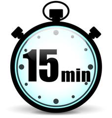 Fifteen minutes stopwatch