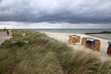 Ostsee Kieler Förde Probstei durchwachsen mit Wolken