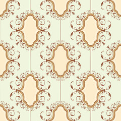 Seamless vintage medallion pattern