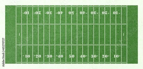 canvas print picture football field green paper
