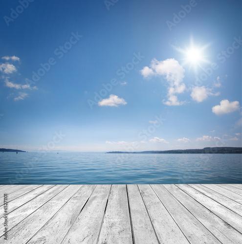 canvas print picture Hintergrund am Wasser
