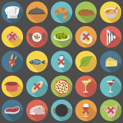 Chef's vector icon set