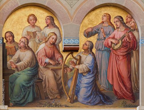 Papiers peints Vienne Vienna - Choir of holy women in the heaven