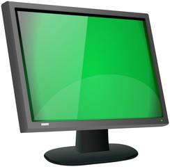 Common LCD or LED flat panel black monitor