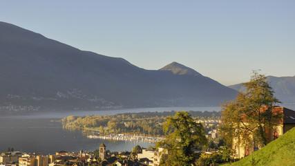 Minusio, Dorf, Locarno, Lago Maggiore, Tessin, Schweiz