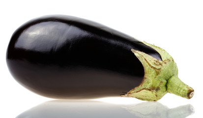 closeup of delicious purple aubergine