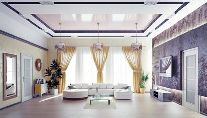 living room. 3d concept