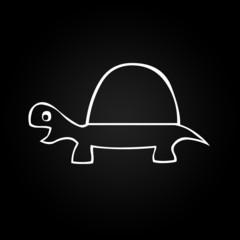 tortue noir et blanc