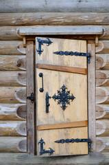 The door in log house