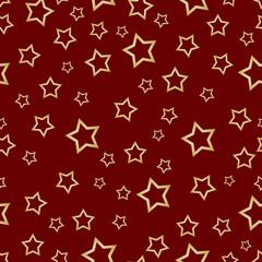 Pattern STARS Red