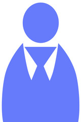 青い人の形のイラスト
