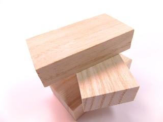 切り出した木片