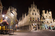 Mechelen - Grote markt and town hall at night