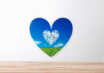 heart  愛 ドア 窓