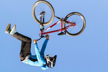 acrobatic biker