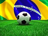 Fototapety Brazil soccer ball