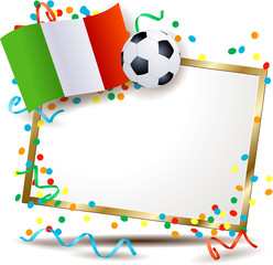 Italian signboard, soccer theme