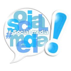 bulle mosaïque lettres : social media (cs5)