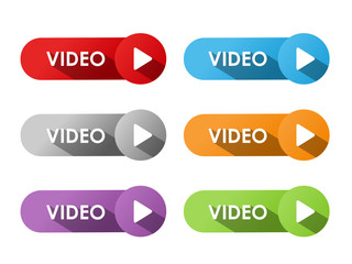 """""""VIDEO"""" BUTTONS (play watch live view launch symbol icon key)"""