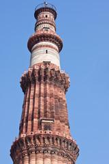 The 12th century Qutb Minar tower, Delhi