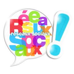 bulle mosaïque lettres : résaux sociaux (cs5)