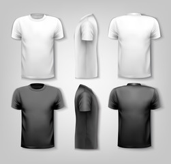 T-shirts with sample text space. Vector.