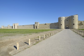 external walls, Aigues Mortes, southern France.